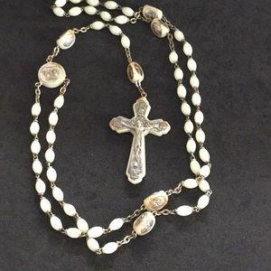 Jewelry - Glow in the dark rosary beads Brevett Italy VTG